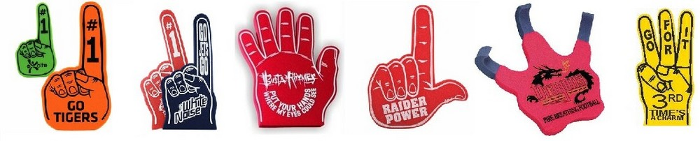 Printed Foam Finger